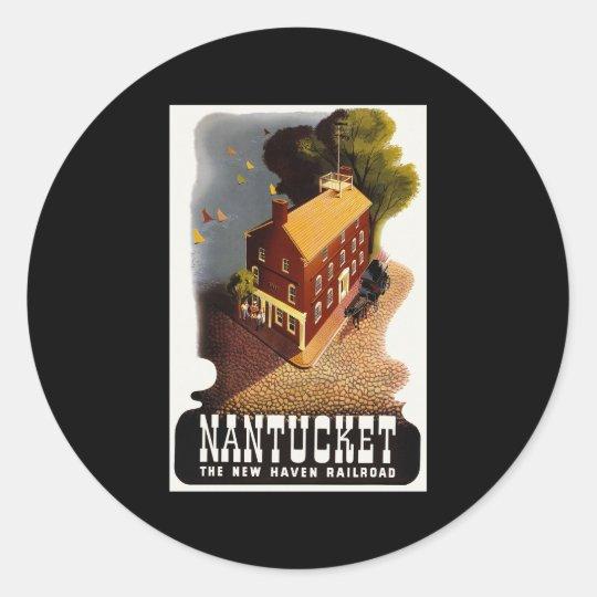 Nantucket Massachusetts Classic Round Sticker