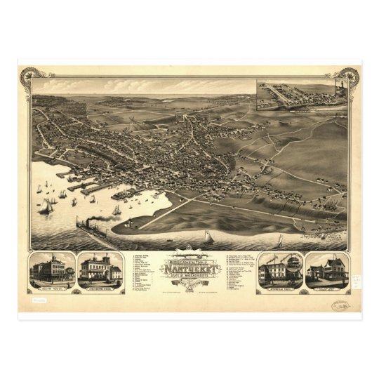 Nantucket, Massachusetts en 1881 Postal