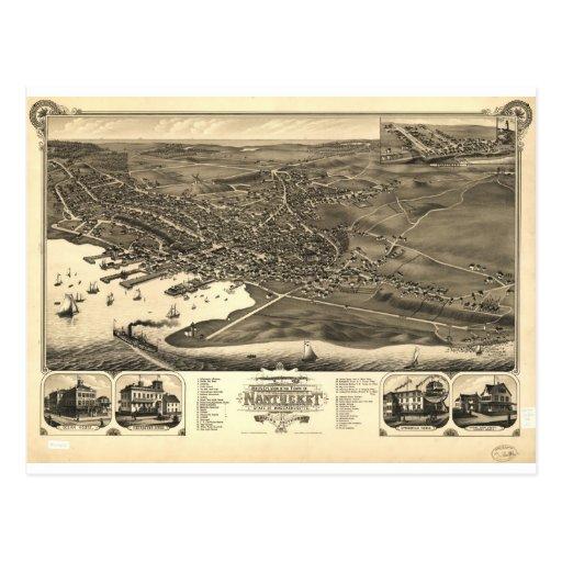 Nantucket, Massachusetts en 1881 Postales