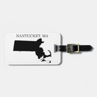 Nantucket Massachusetts Etiqueta De Equipaje