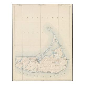 Nantucket, Massachusetts Impresión En Madera