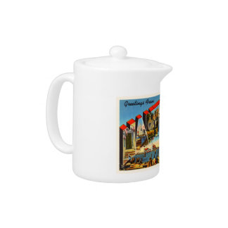 Nantucket Massachusetts MA Vintage Travel Souvenir Teapot