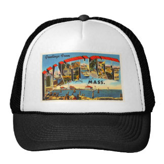 Nantucket Massachusetts MA Vintage Travel Souvenir Trucker Hat
