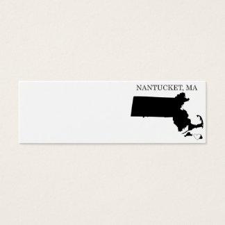 Nantucket Massachusetts Mini Business Card