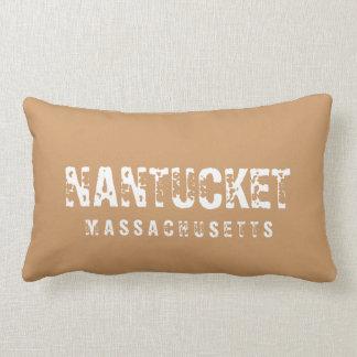 Nantucket Massachusetts Reversible Brown Pillows