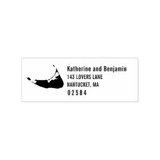 Nantucket Massachusetts Solid Map Wedding Rubber Stamp