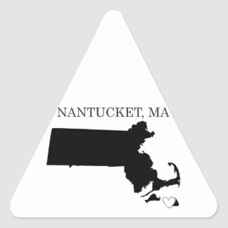 Nantucket Massachusetts Triangle Sticker