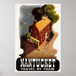 Nantucket Massachusetts Vintage Travel Poster