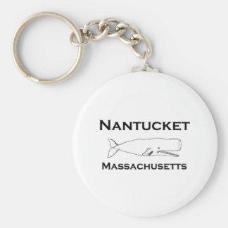 Nantucket Massachusetts Whale Keychain
