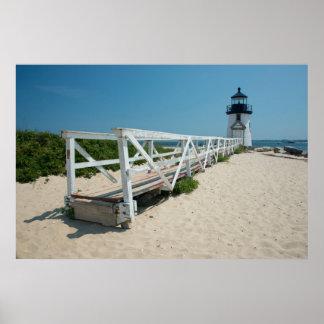 Nantucket. Old Wooden Lighthouse Print