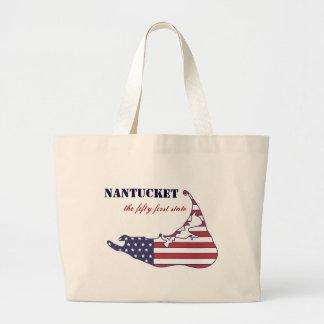Nantucket patriótico el 51 o estado de América Bolsa De Mano