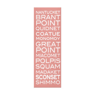 Nantucket Places Faded Red & White Wall Decor