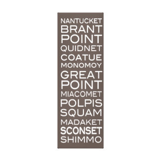 Nantucket Places Slate Brown & White Wall Decor