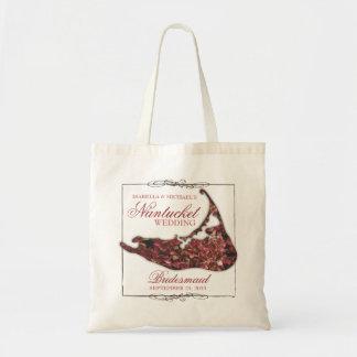 Nantucket que casa la bolsa de asas floral de la d