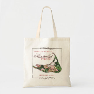 Nantucket que casa la bolsa de asas floral del map