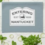 Nantucket que entra Est. 1659 firme adentro el azu Toallas De Mano