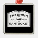 Nantucket que entra Est. 1659 firme adentro el neg Adornos