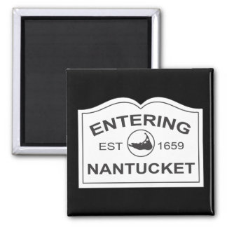 Nantucket que entra Est. 1659 firme adentro el neg Imanes Para Frigoríficos