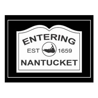 Nantucket que entra Est. 1659 firme adentro el Tarjeta Postal