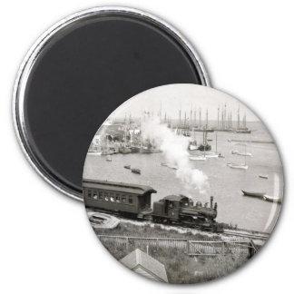 Nantucket Railroad 2 Inch Round Magnet