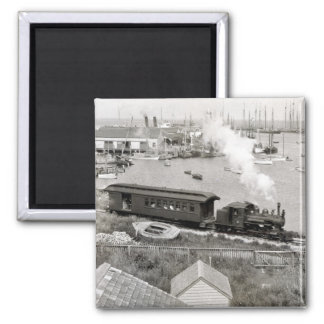 Nantucket Railroad 2 Inch Square Magnet