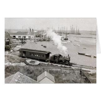 Nantucket Railroad Greeting Card
