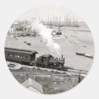Nantucket Railroad Classic Round Sticker