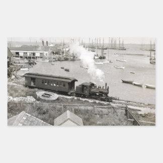 Nantucket Railroad Rectangular Sticker