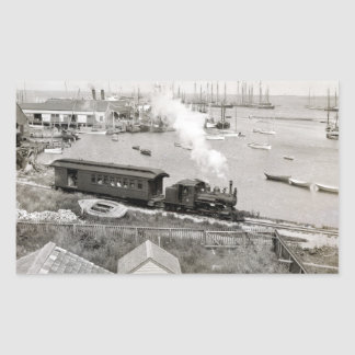 Nantucket Railroad Rectangle Sticker