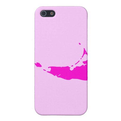 Nantucket rosado iPhone 5 carcasas