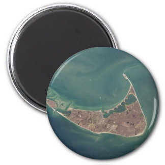 Nantucket Satellite Photograph 2 Inch Round Magnet