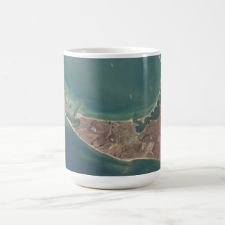 Nantucket Satellite Photograph Coffee Mug