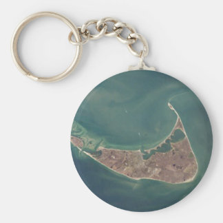 Nantucket Satellite Photograph Keychain