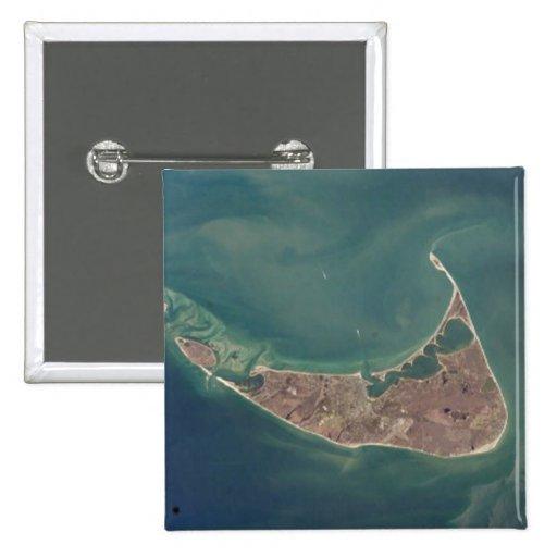 Nantucket Satellite Photograph Pins