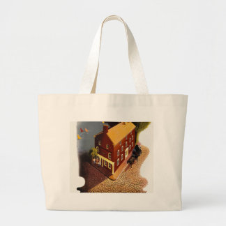Nantucket. The New Haven Railroad Large Tote Bag