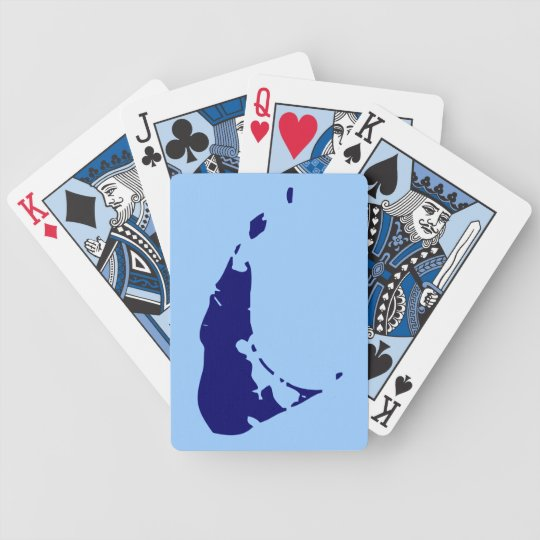 Nantucket Vacation Bicycle Playing Cards
