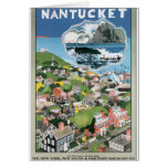 Nantucket Vintage Travel Poster Artwork
