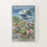 """Nantucket Vintage Travel Poster Artwork Jigsaw Puzzle<br><div class=""""desc"""">This product features Nantucket Vintage Travel Poster Artwork.  Like this design,  but you want to tweak it? Just click on &quot;Customize&quot; to add text or adjust things to your liking.</div>"""