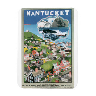 Nantucket Vintage Travel Poster Artwork Rectangular Photo Magnet