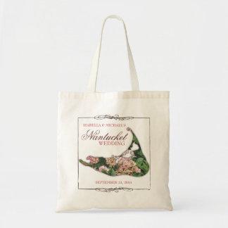 Nantucket Wedding Floral Destination Map Tote Bag