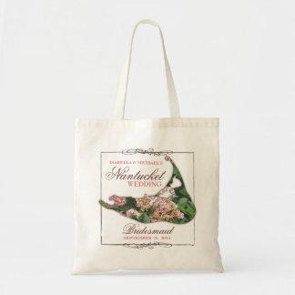 Nantucket Wedding Floral Map Bridesmaid Tote Bag