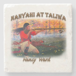 Nanyahi and the Legend of Nancy Ward Stone Coaster