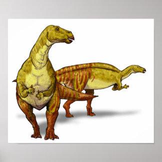 Nanyangosaurus - dinosaurio cretáceo póster