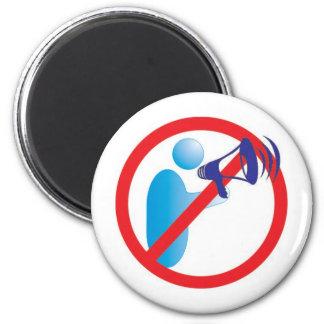 não faça barulho neste recinto 2 inch round magnet