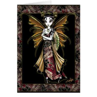 """""""Naomi"""" Oriental Fairy Art Dragon Tattoo Card"""
