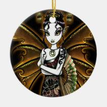 naomi, oriental, fan, fairy, faery, fae, faerie, fantasy, big, eyed, myka, jelina, mika, japanese, Ornament with custom graphic design