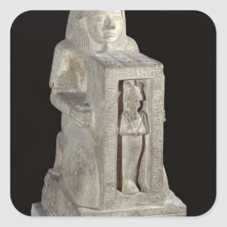 Naophorous statue of the royal scribe, Seti Square Sticker