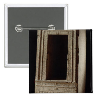 Naos chapel dedicated to the goddess Isis by Ptole 2 Inch Square Button