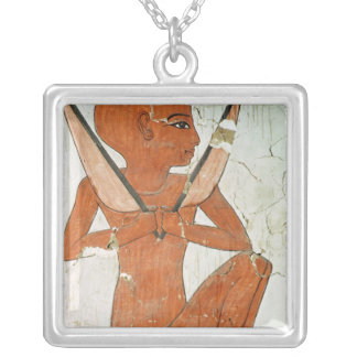 Naos deity, from the Tomb of Nefertari Silver Plated Necklace