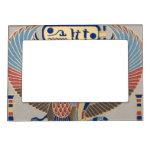 Naos Ramesses II Snake Bird Cartouche Egyptian Picture Frame Magnet